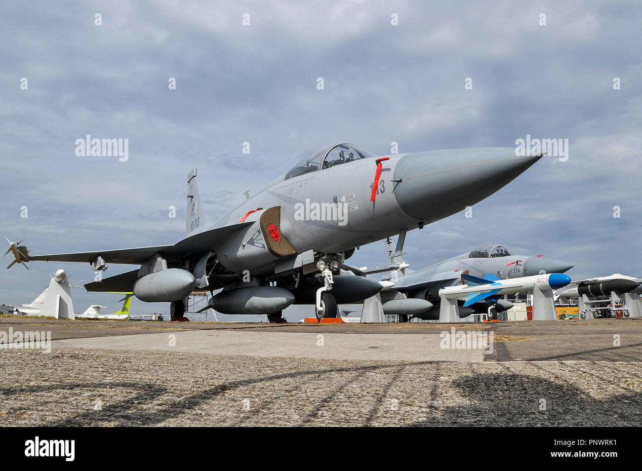 PAC JF-17 Thunder CAC FC-1 Xiaolong (Fierce Dragon) jet fighter plane by Pakistan Aeronautical Complex (PAC) and the Chengdu Aircraft Corporation - Stock Image
