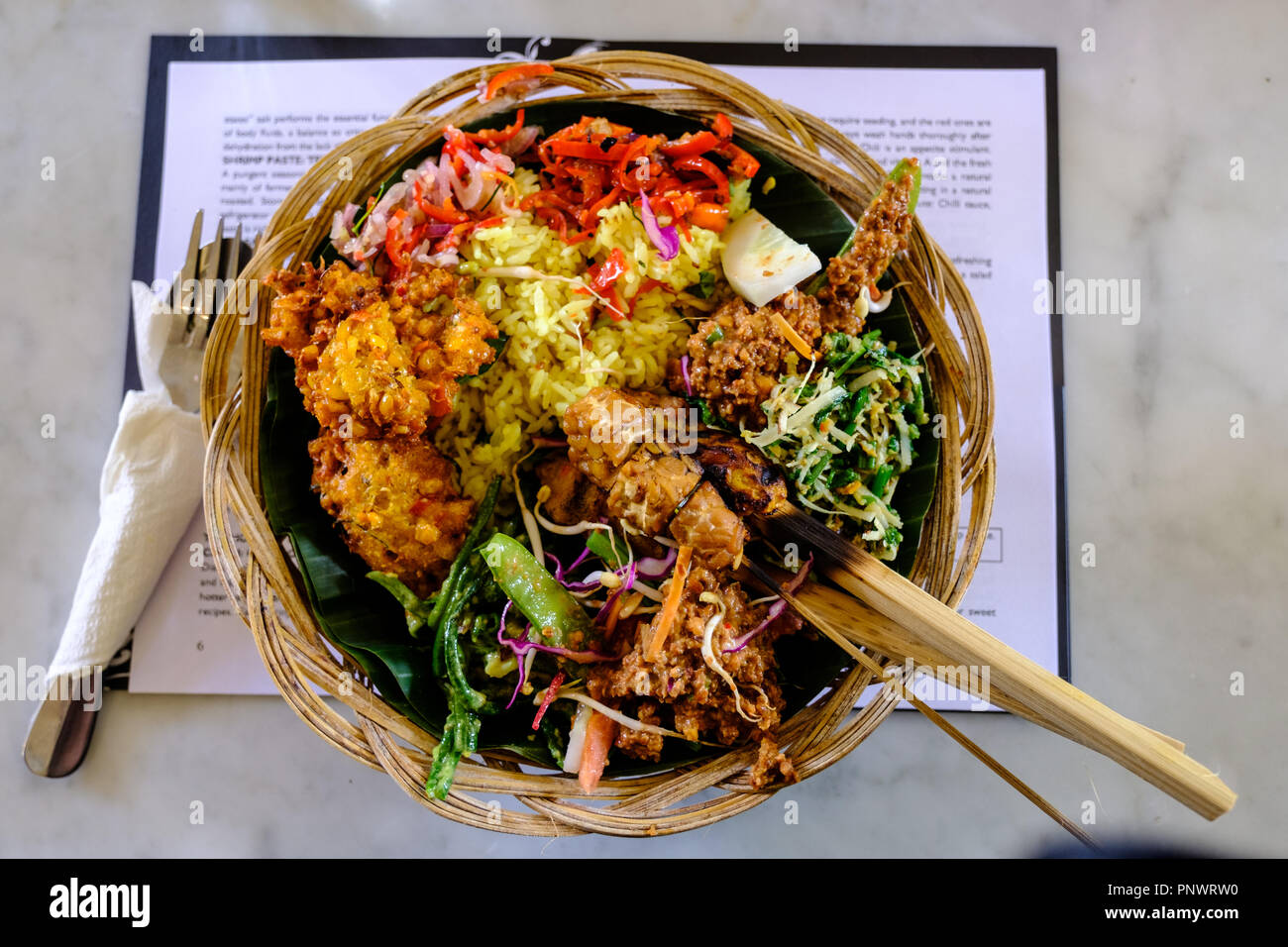 A Bowl Of Traditional Balinese Food Stock Photo 219999724