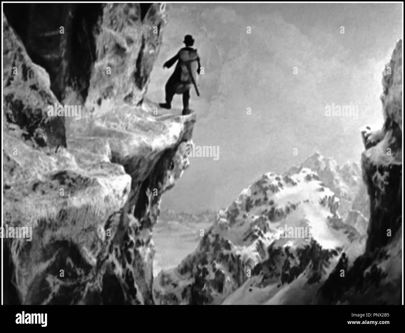 Prod DB © United Artists / DR LA RUEE VERS L'OR (THE GOLD RUSH) de Charles Chaplin 1925 USA avec Charles Chaplin comique, burlesque, Grand Nord, Klondike, classique muet , montagnen montagnard, alpinisme Charlie Chaplin, Charlot Stock Photo