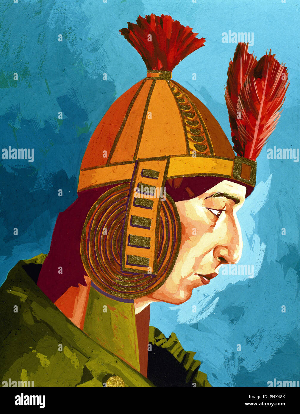 Huascar Inca (1491–1532). Sapa Inca of the Inca empire from 1527 to 1532 AD, succeeding his father Huayna Capac and brother Ninan Cuyoch. - Stock Image