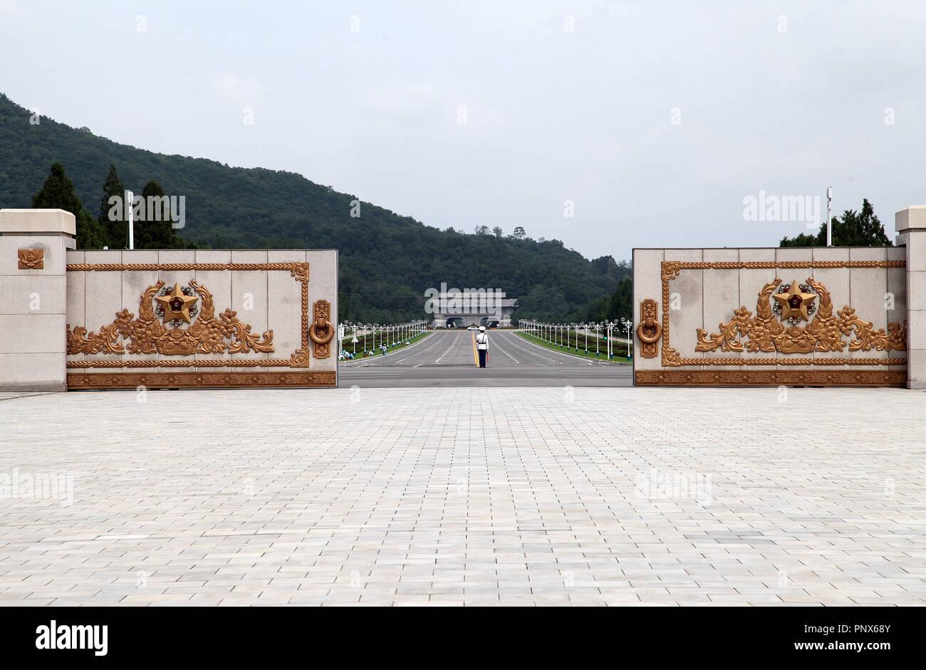 Kumsusan Palace of the Sun in Pyongyang - Stock Image