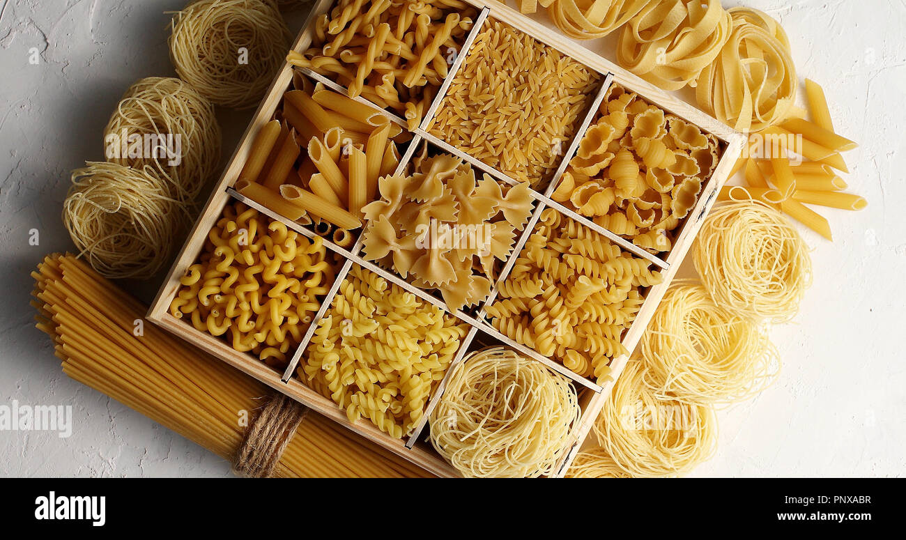 Macaroni of different kind  - Stock Image