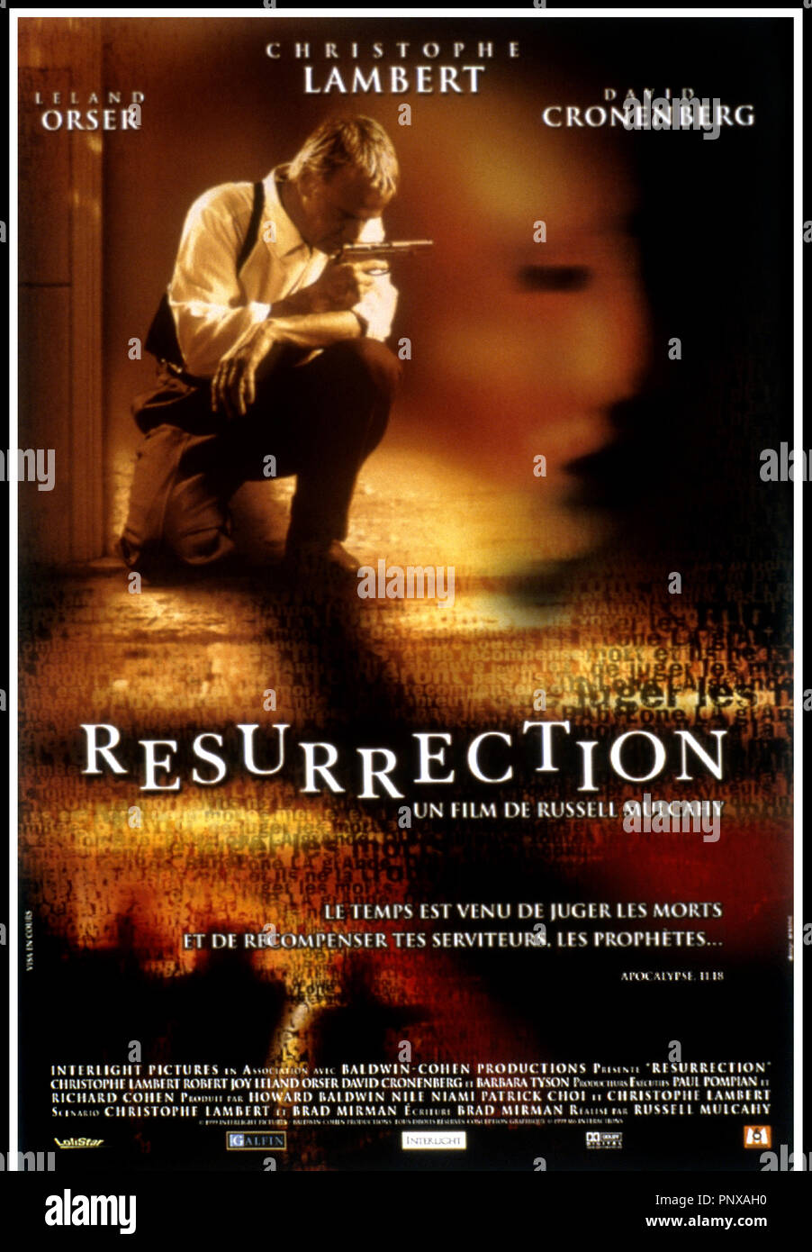 Prod DB © Interlight Pictures / DR RESURRECTION (RESURRECTION) de Russel Mulcahy 1999 USA affiche Stock Photo