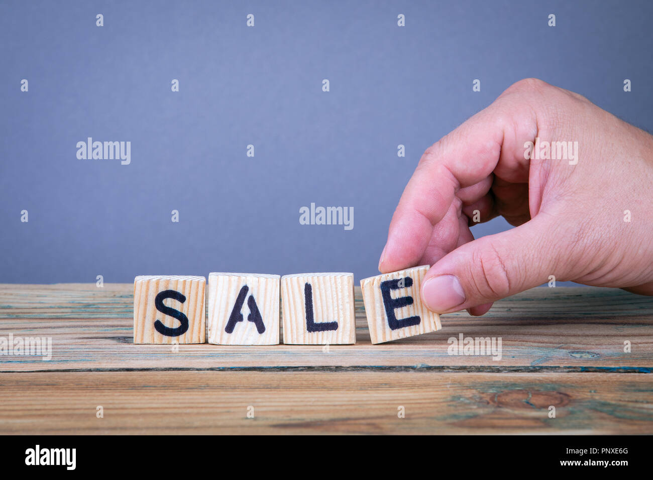 wooden letters on the office desk stock image