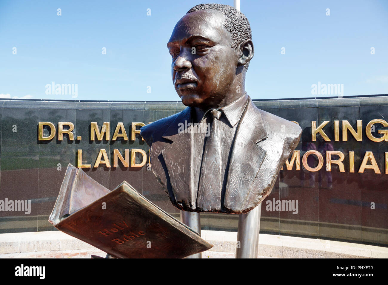 West Palm Beach Florida Dr. Martin Luther King Jr. Landmark Memorial Currie Park - Stock Image