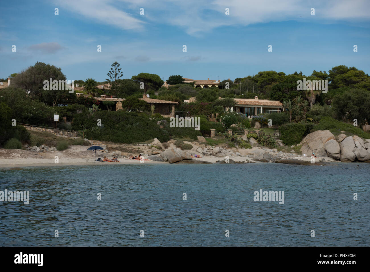 Coastal development. Southern Sardinia. Italy - Stock Image