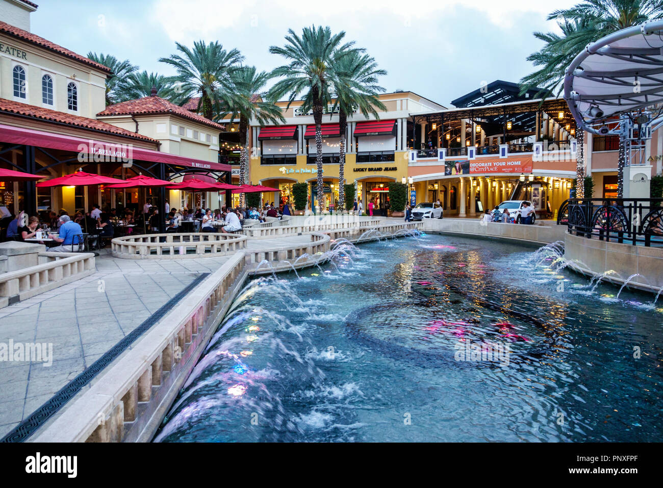 West Palm Beach Florida Cityplace Shopping Plaza Fountain Il