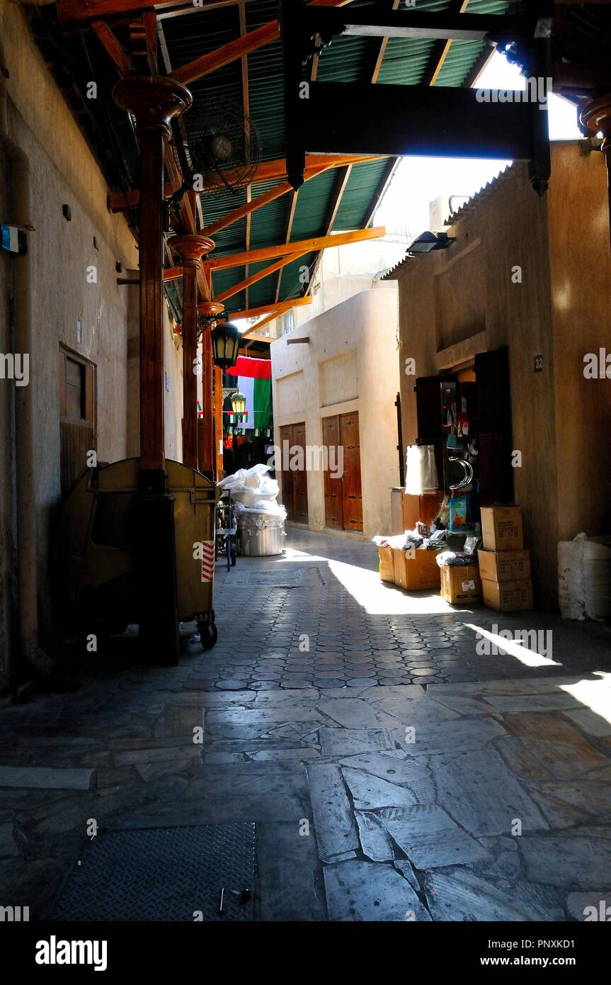 Old Dubai Street Stock Photo