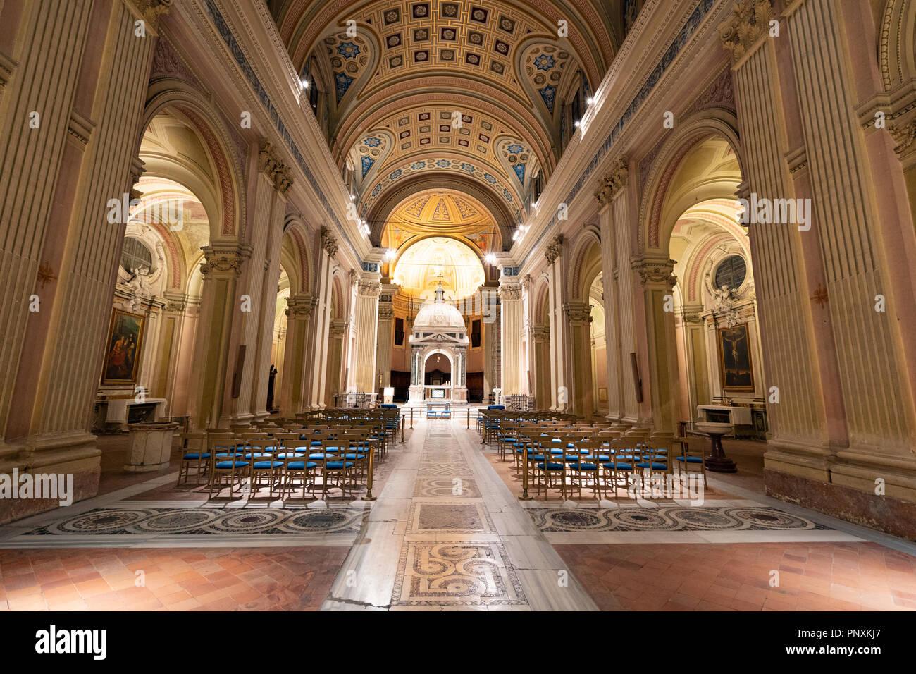A beautiful church next to the buco della serratura, Rome, Italy. - Stock Image