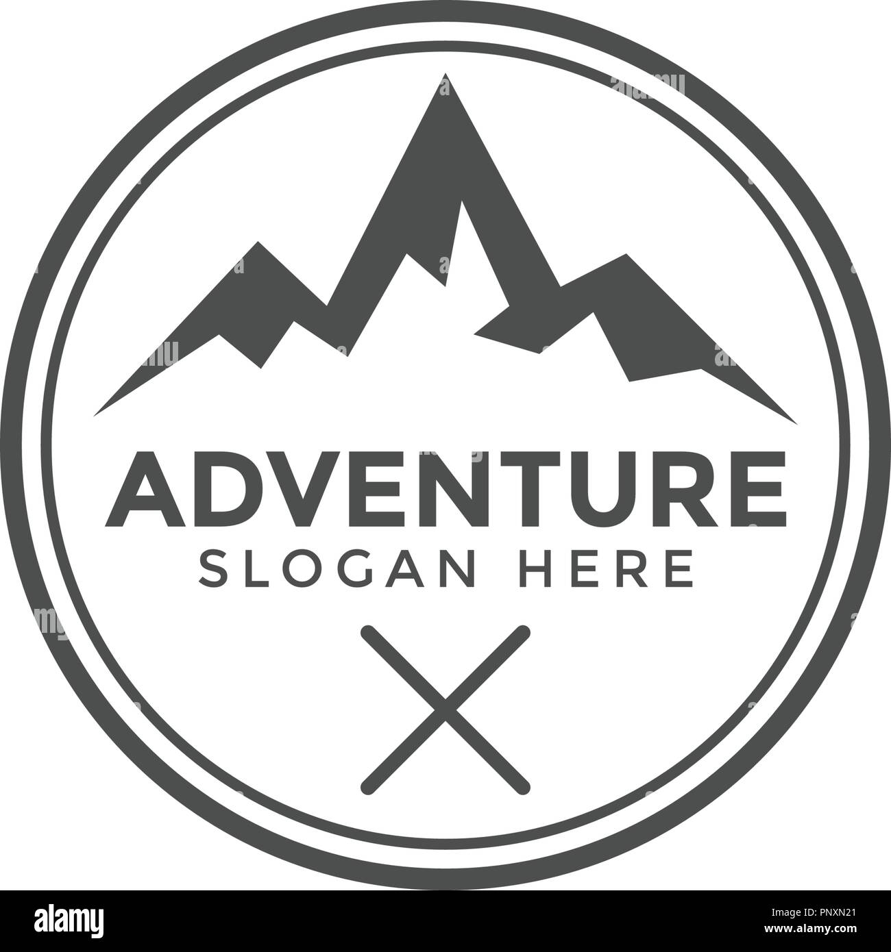 classic adventure mountain logo icon design template vector stock