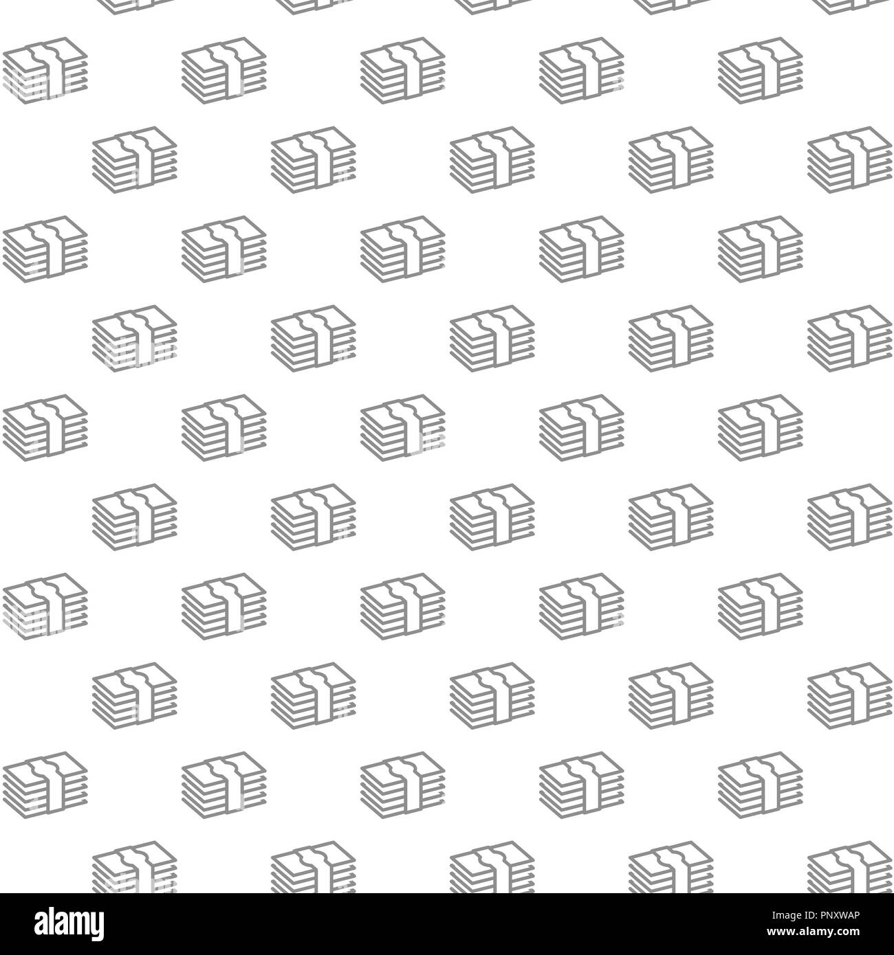 Unique Digital Money Cash Currency Dollars Seamless Pattern With
