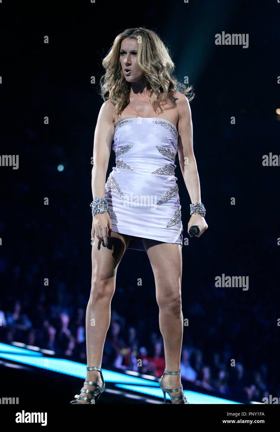 Celine Dion Performs In Concert Stock Photos Amp Celine Dion