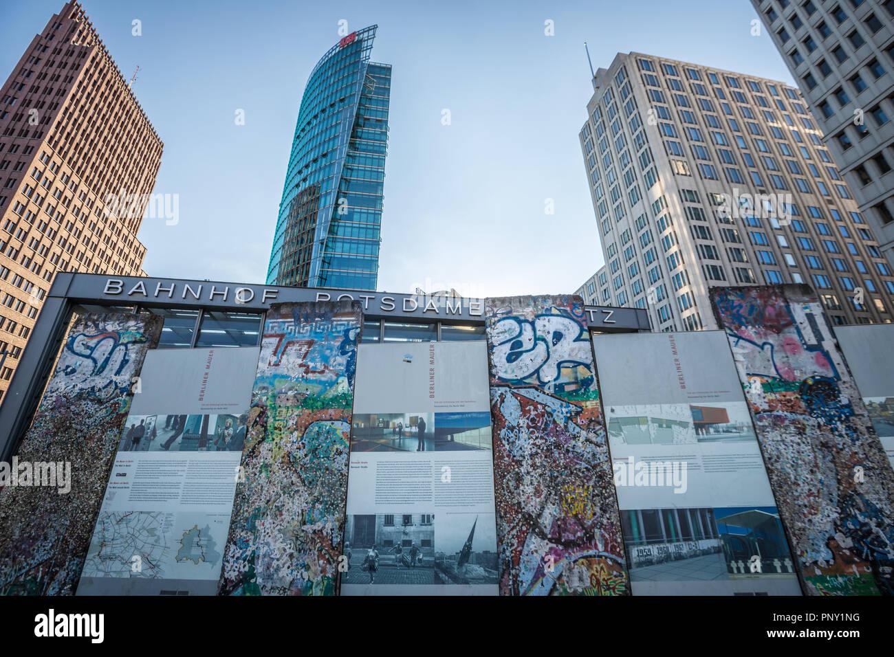 View of Potsdamer Platz in Berlin Stock Photo