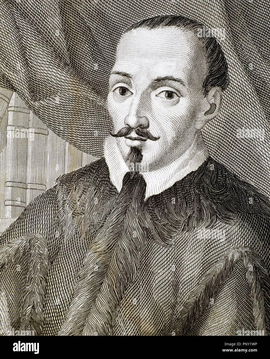 ZURITA, Jerónimo (Zaragoza 1512-Zaragoza 1580). Historiador español. En 1548 fue nombrado cronista de Aragón. Grabado. - Stock Image