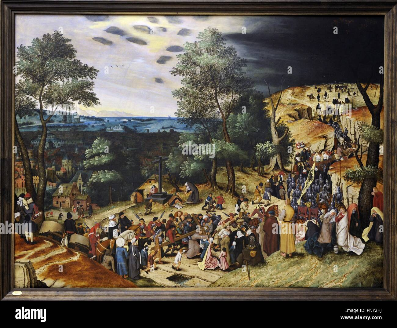 Pieter Brueghel the Younger (1564-1638). Flemish painter. The Procession to Calvary, 1602. National Museum of Art. Copenhagen. Denmark. Stock Photo