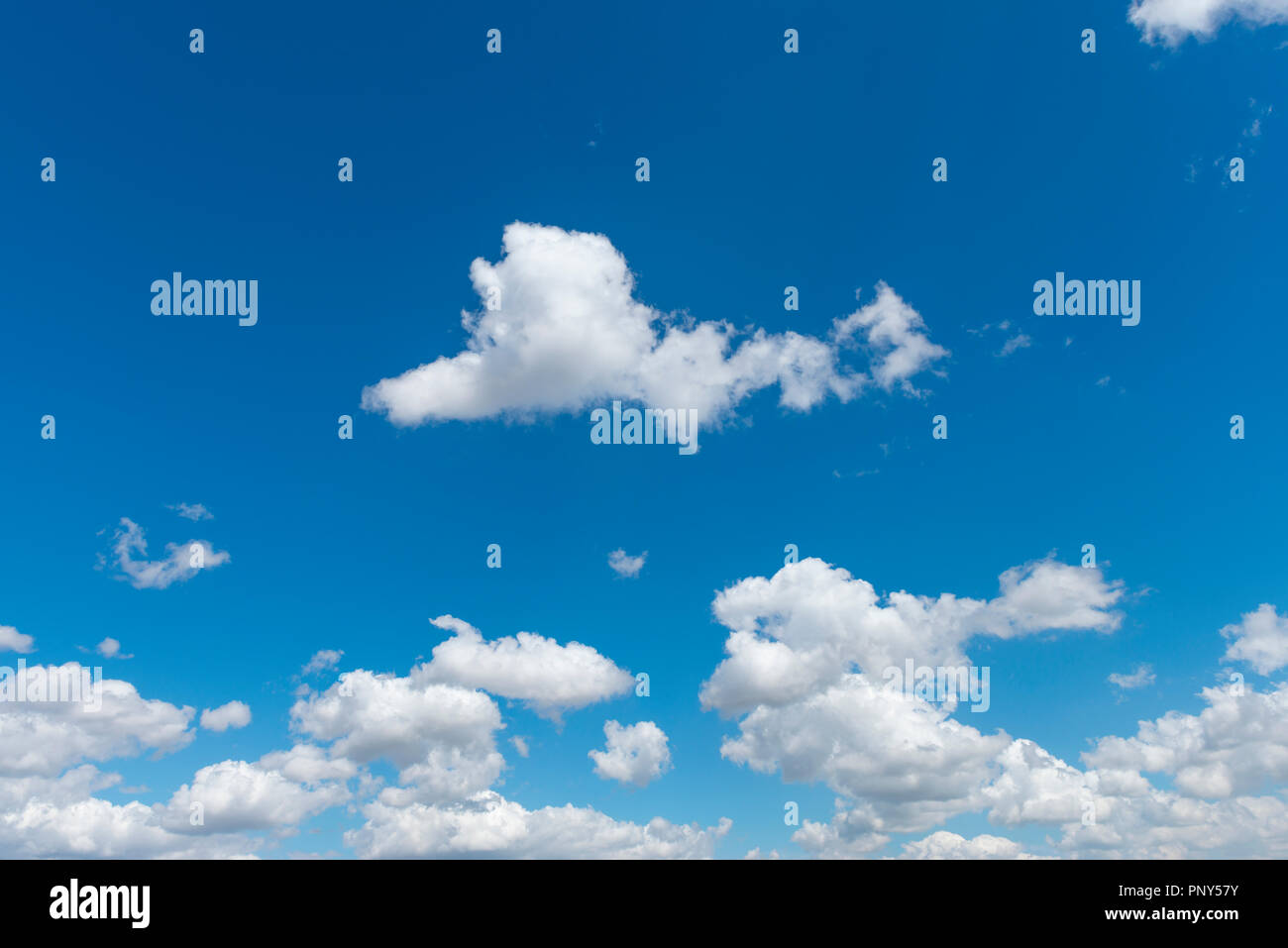 Small clouds with blue sky, fair weather clouds, Andalusia, Spain - Stock Image