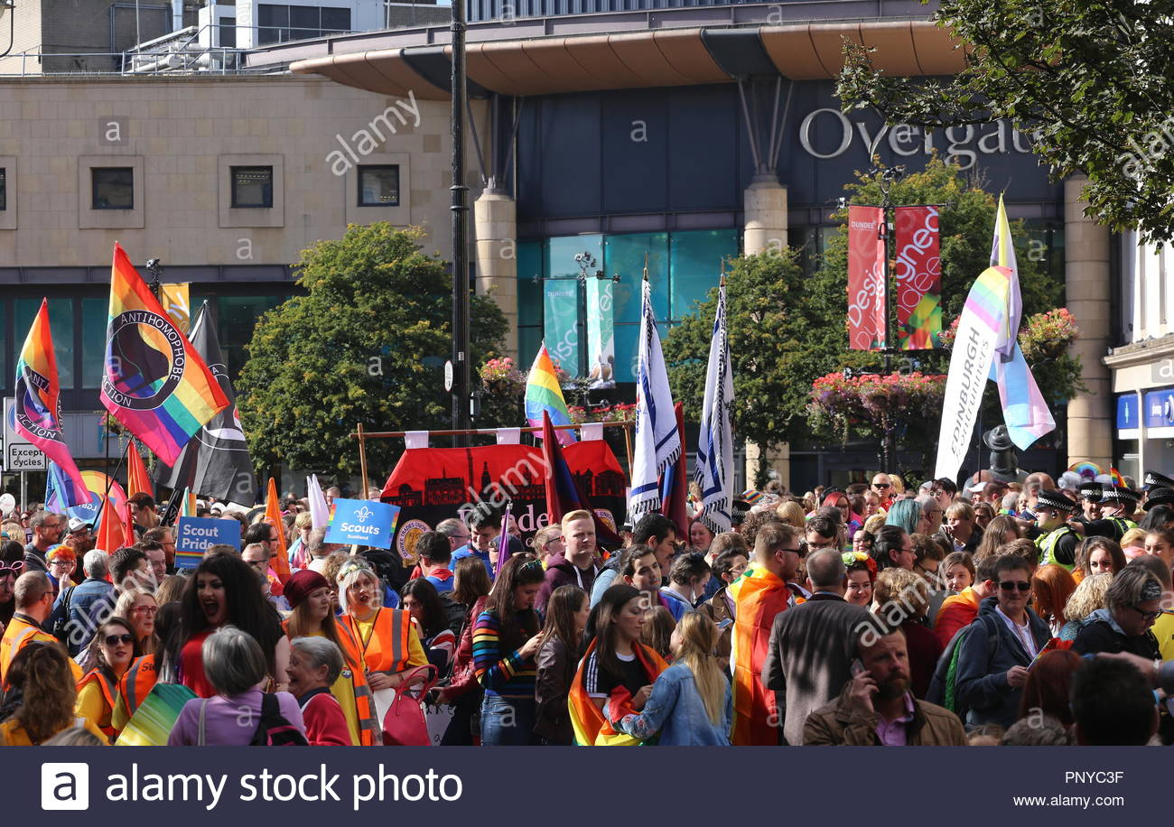 Dundee pride march Dundee Scotland  22nd September 2018 - Stock Image