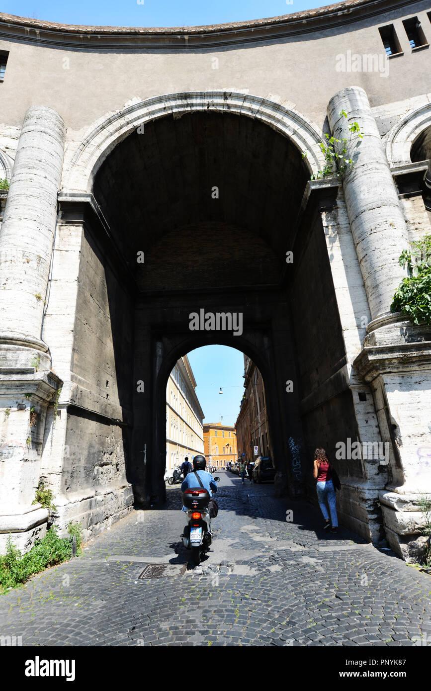 Porta Santo Spirito leading to the Vatican City. Stock Photo