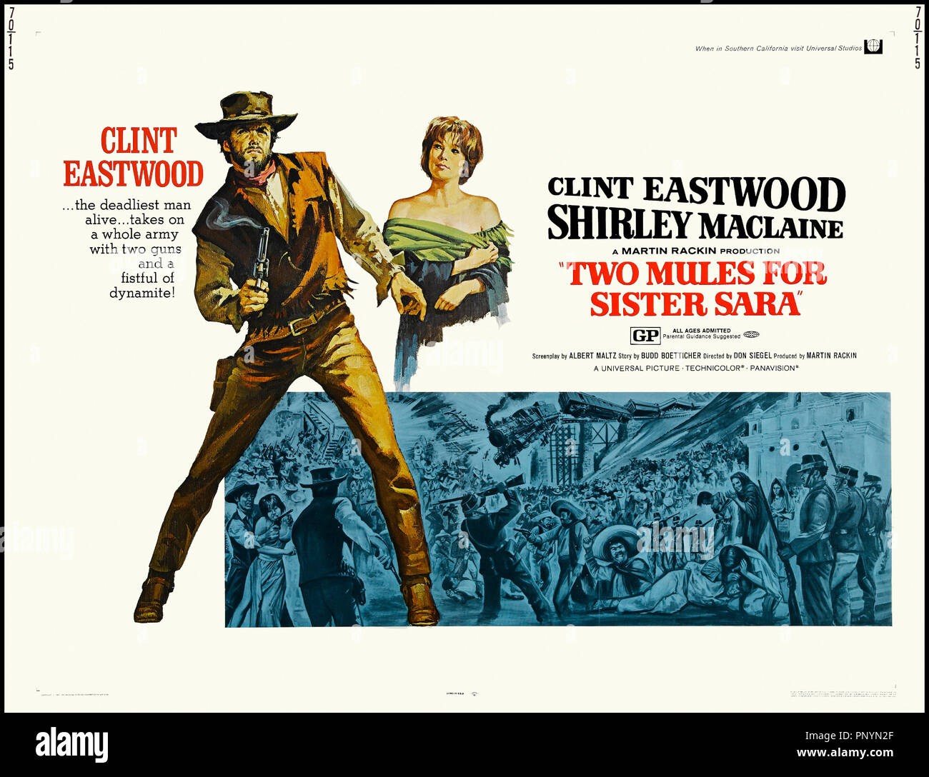 Clint Eastwood Two Mules Sister Sara Stock Photos   Clint Eastwood Two  Mules Sister Sara Stock Images - Alamy c0a37f7ddf5