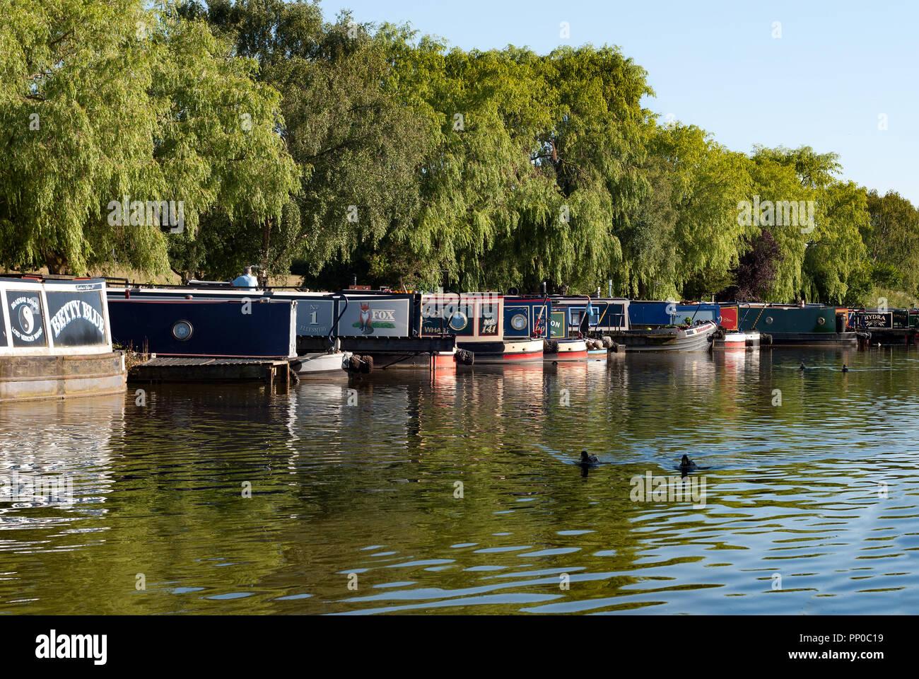 Narrow Boats at Poynton, Cheshire - Stock Image