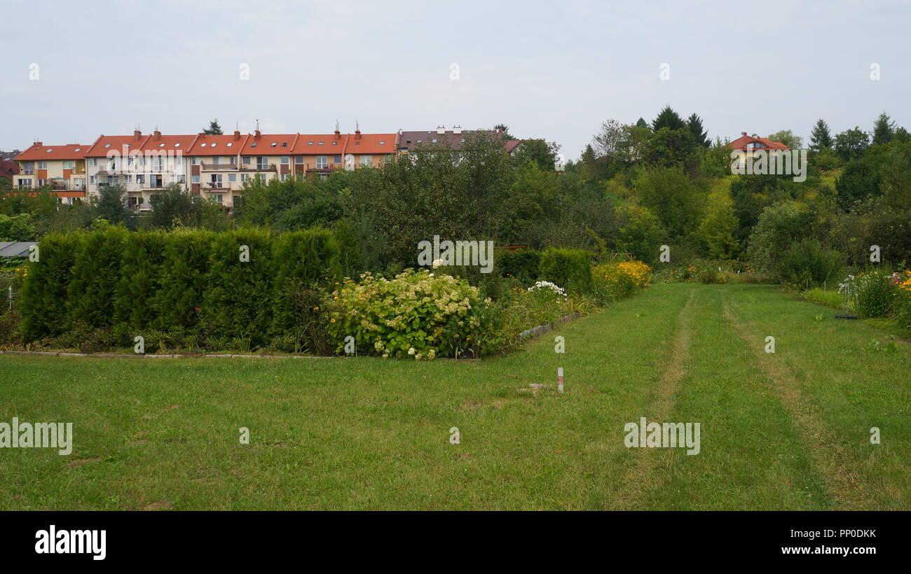 Bilder aus idyllischen Kleingärten und Schrebergärten Stock Photo