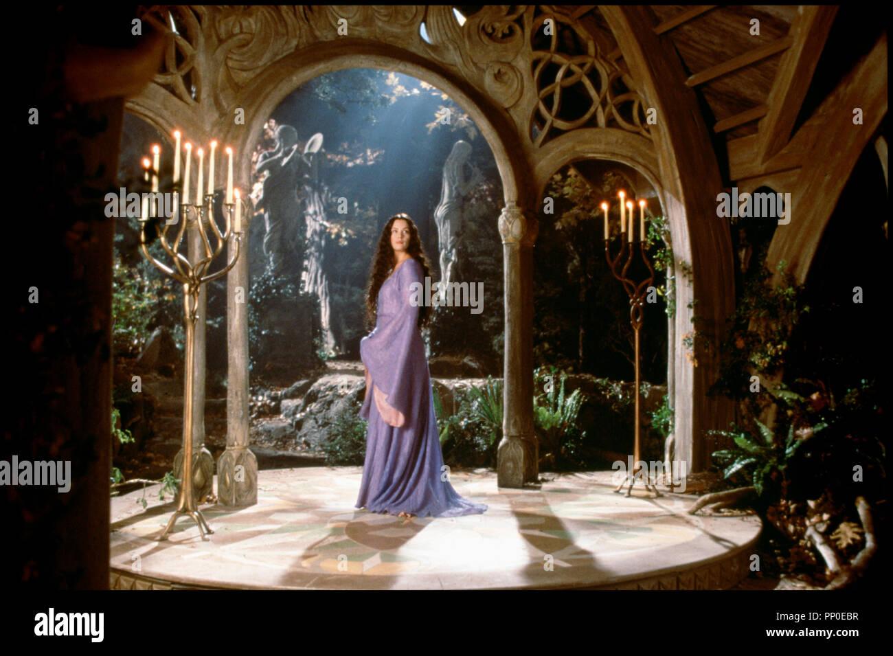Prod DB © New Line Cinema / DR LE SEIGNEUR DES ANNEAUX - LES DEUX TOURS (THE LORD OF THE RINGS: THE TWO TOWERS) de Peter Jackson 2002 USA / NOUVELLE ZELANDE avec Liv Tyler elfe, princesse d'apres le roman de J.R.R. Tolkien - Stock Image