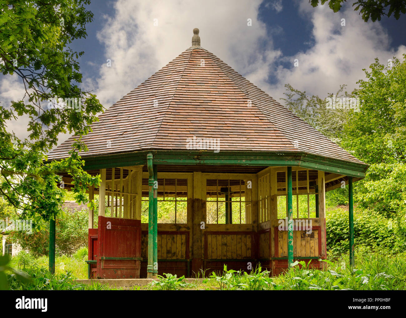 Images of restored buildings and structures at Avoncroft Museum in Bromsgrove, Worcestershire. - Stock Image