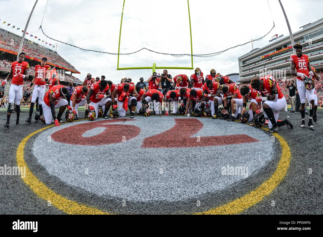 Number 79 Stock Photos Images Alamy Wiring Instructions Capital One College Park Maryland Usa 22nd Sep 2018 Players Kneel In