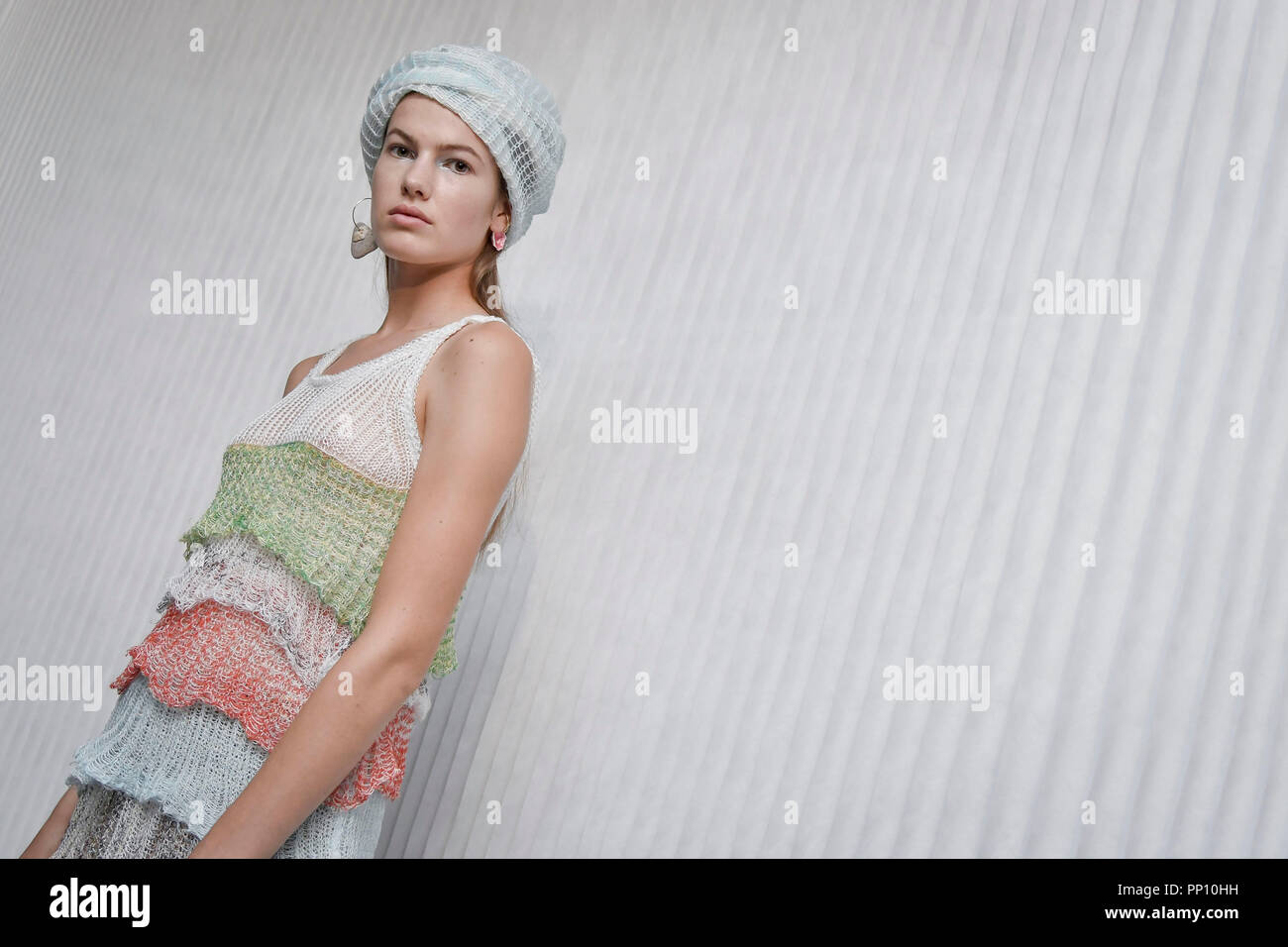 505ff26a45c3 Milan Fashion Week Fashion Woman Spring Summer 2019. Missoni First Look In  Photo: model Credit: Independent Photo Agency/Alamy Live News