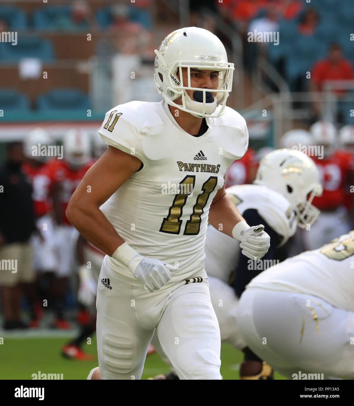 Miami Gardens Florida Usa 22nd Sep 2018 Fiu Panthers Wide