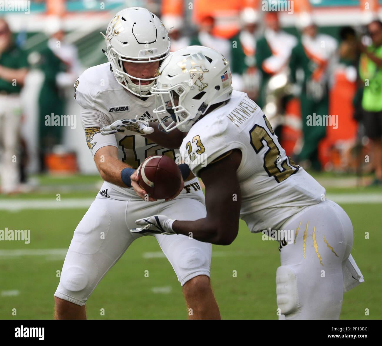Miami Gardens Florida Usa 22nd Sep 2018 Fiu Panthers