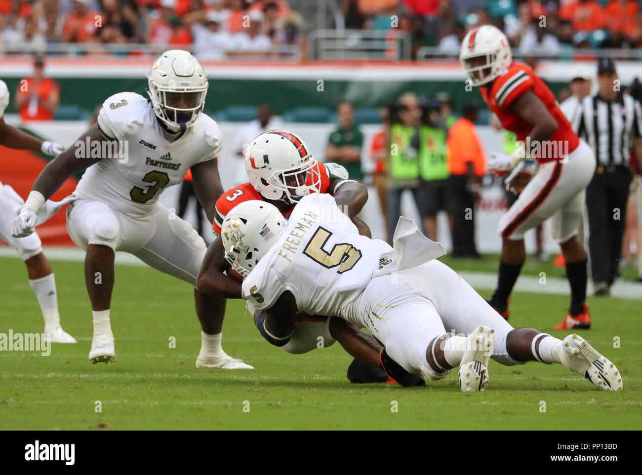 Miami Gardens Florida Usa 22nd Sep 2018 Fiu Panthers Linebacker
