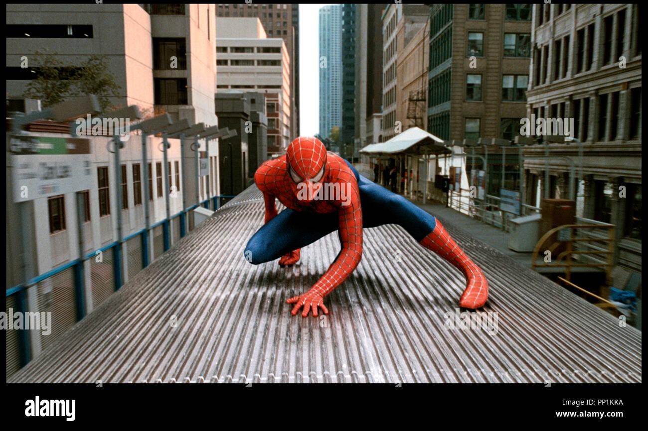 Prod DB © Columbia - Marvel Entertainment / DR SPIDERMAN 2 (SPIDER-MAN II) de Sam Raimi 2004 USA avec Tobey Maguire d'apres la B.D. (comics) de Stan Lee et Steve Ditko metro aerien Stock Photo