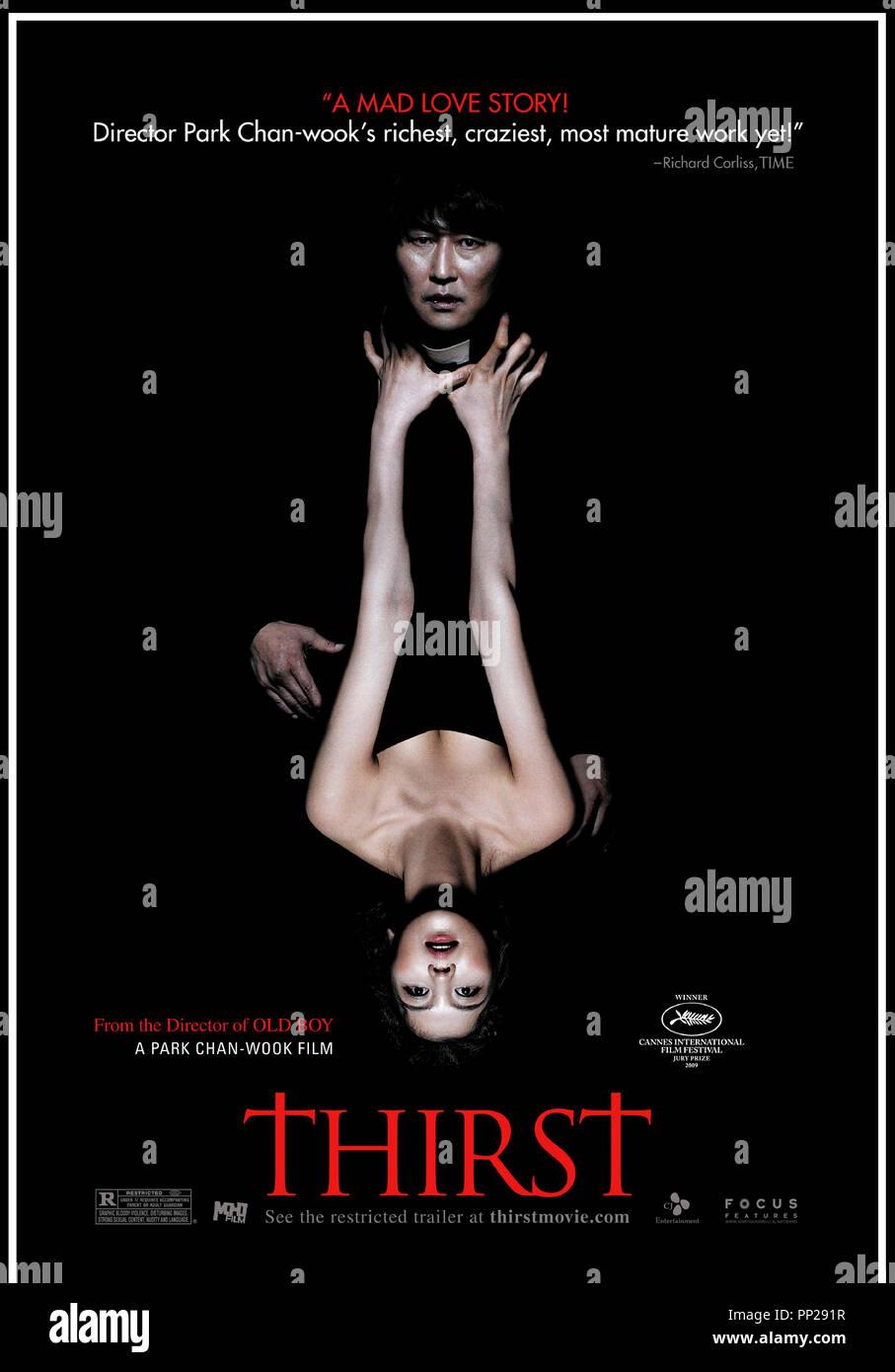 Prod DB © Moho Film / DR THIRST, CECI EST MON SANG (BAKJWI - THIRST) de Park Chan-Wook 2009 Corée du Sud affiche US vampires - Stock Image