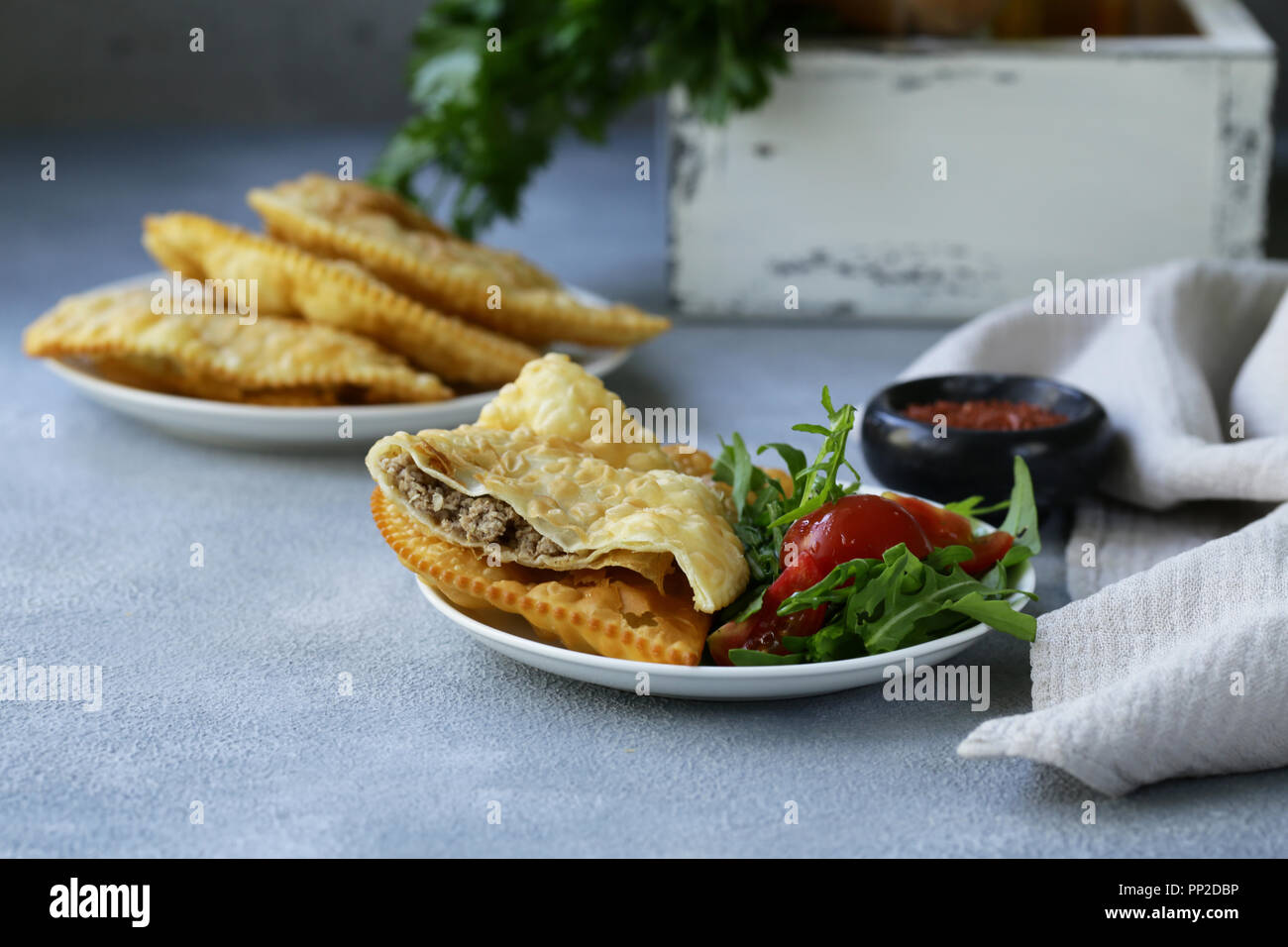 A classic recipe for chebureks with meat