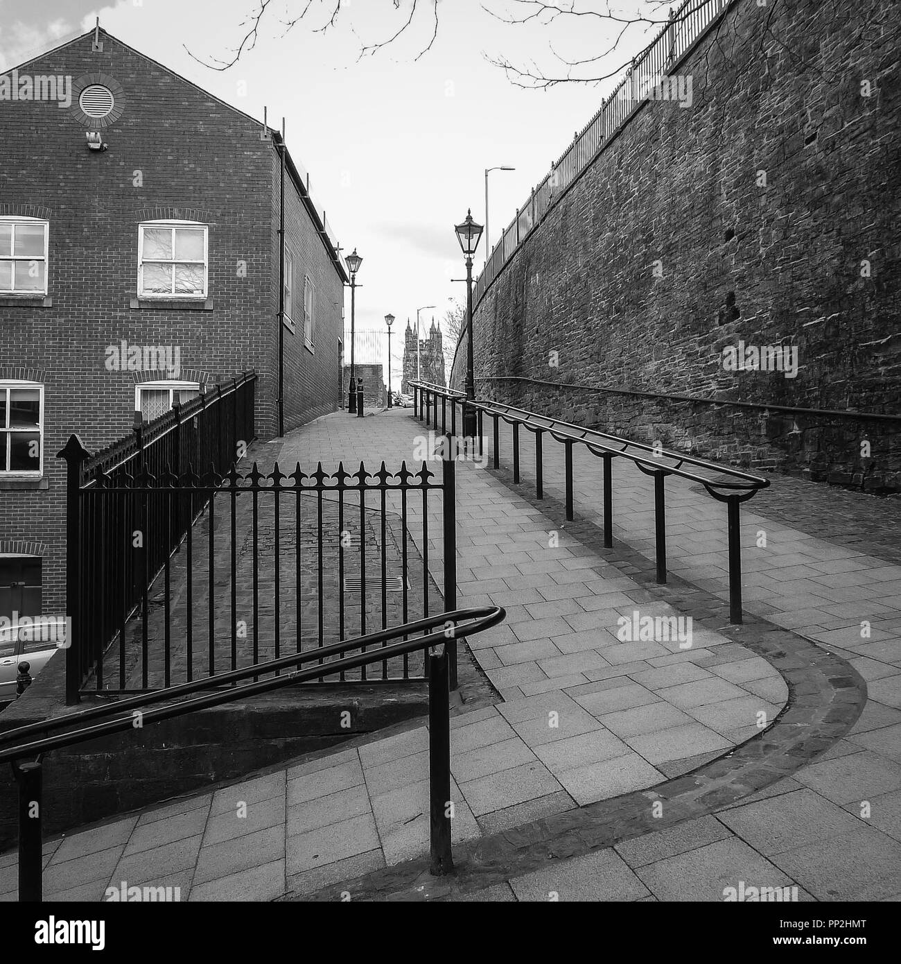 Old hill path in Stockport, Cheshire, UK - Stock Image