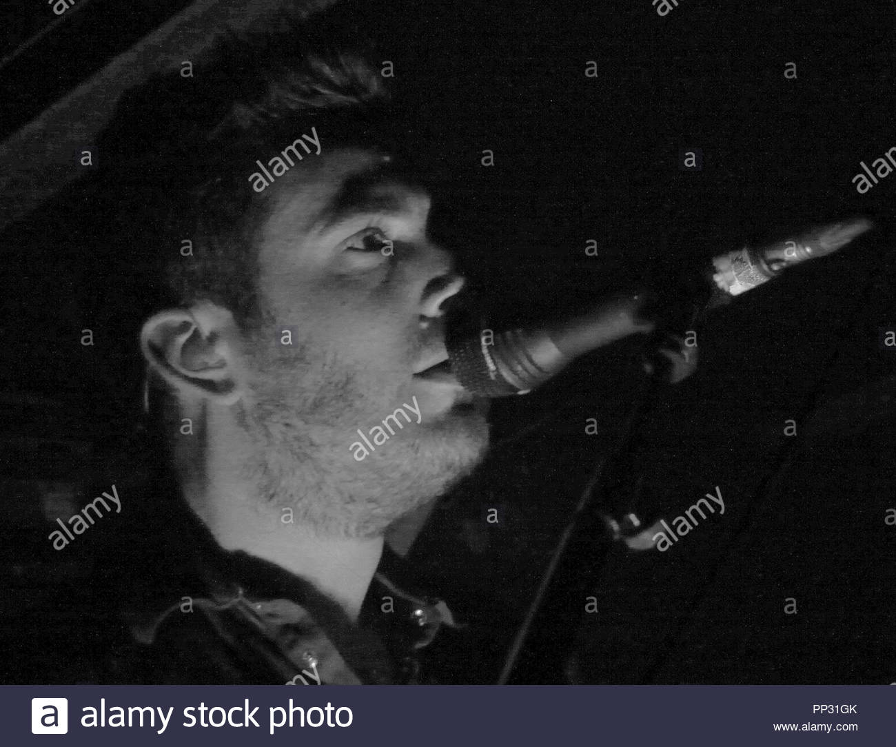 Delphic perform to a sold out audience at sankeys in manchester - Stock Image
