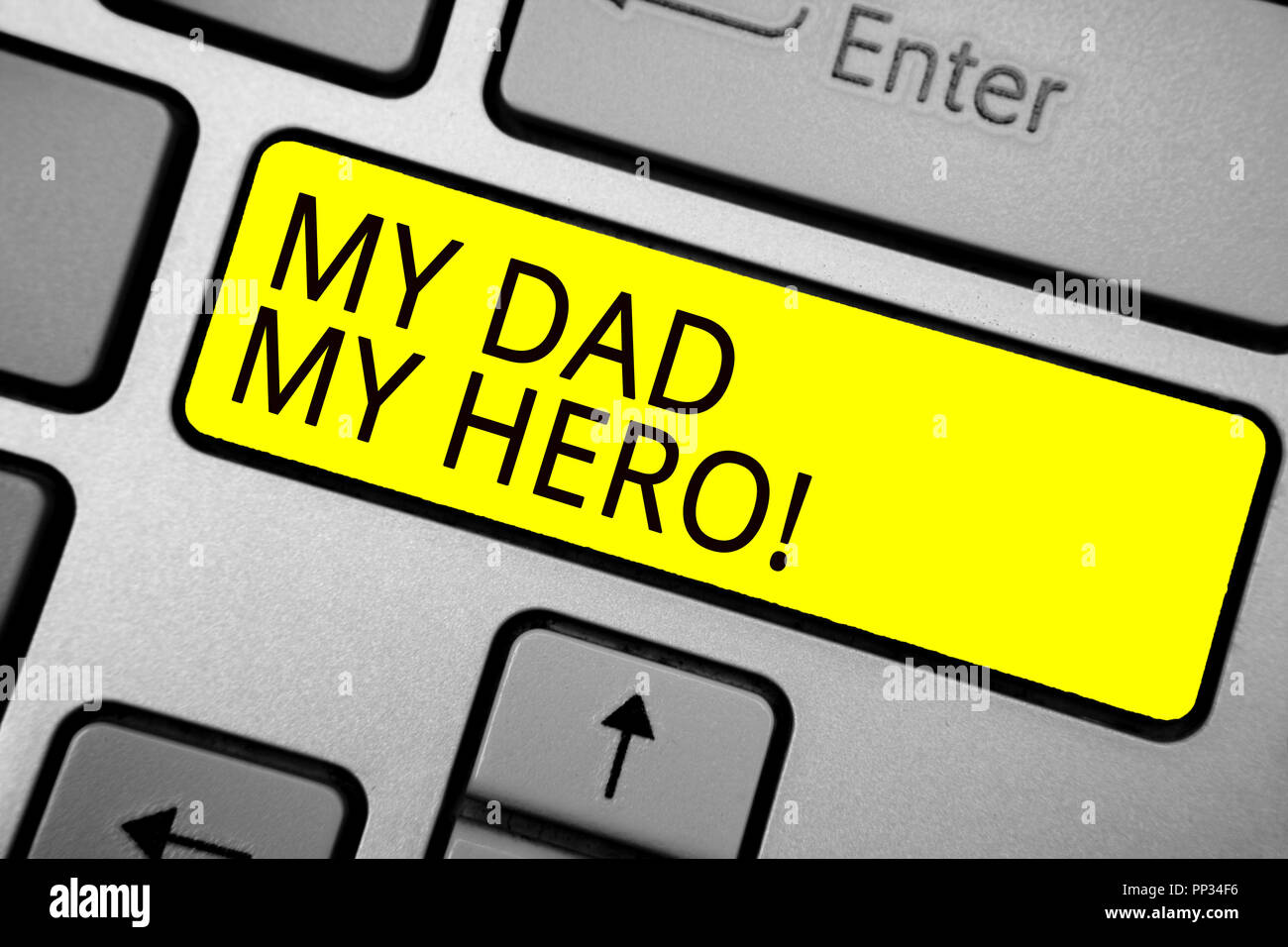 Handwriting Text Writing My Dad My Hero Concept Meaning
