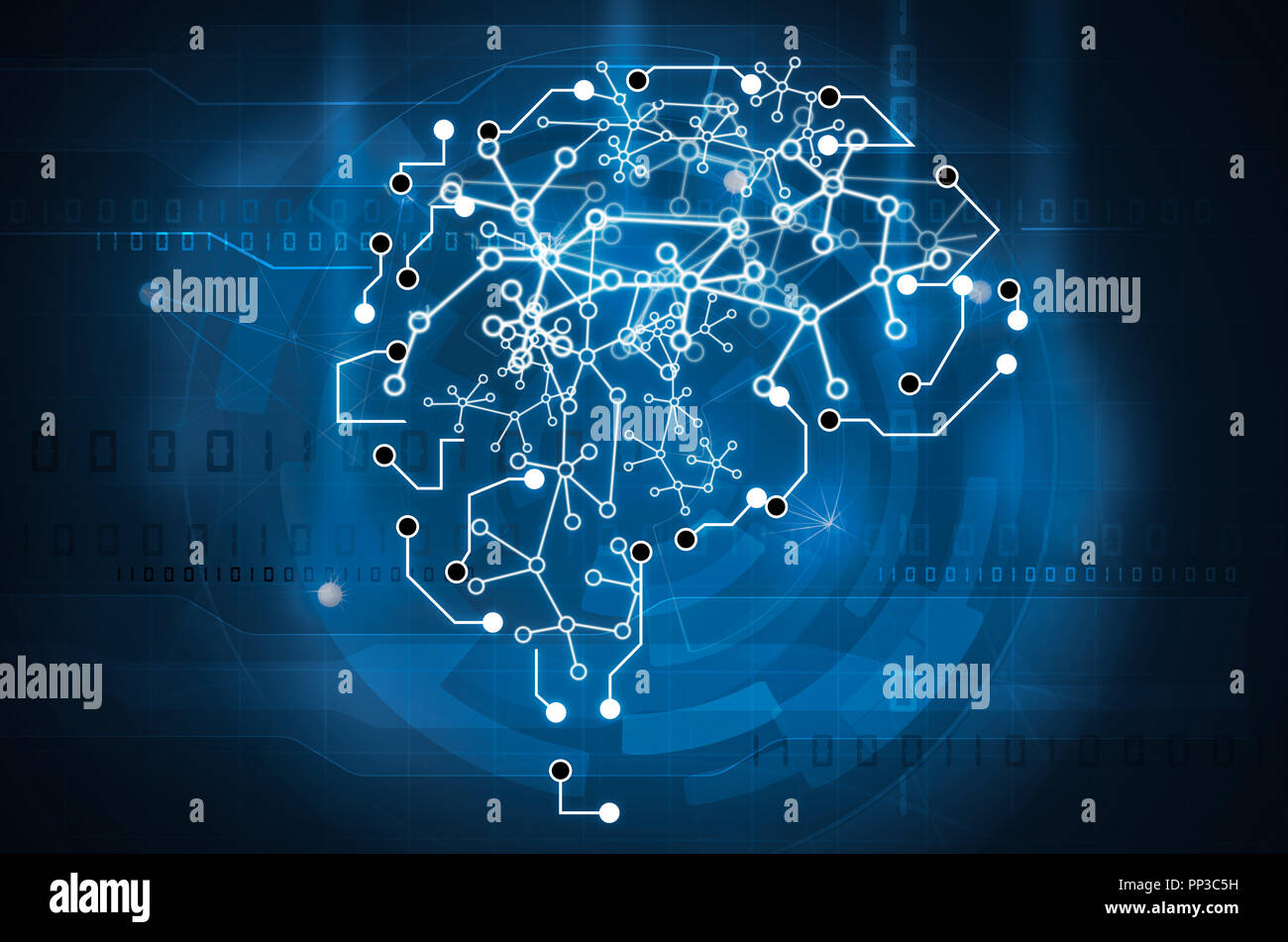 machine learning brain - Stock Image