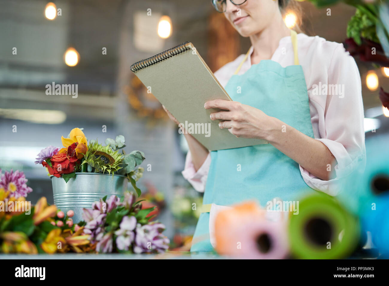 Bookkeeping in Shop - Stock Image