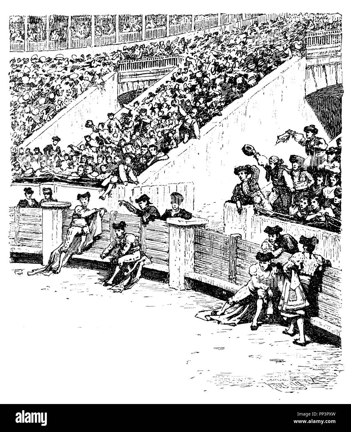 Bullfighting: Arena with spectators, Stock Photo