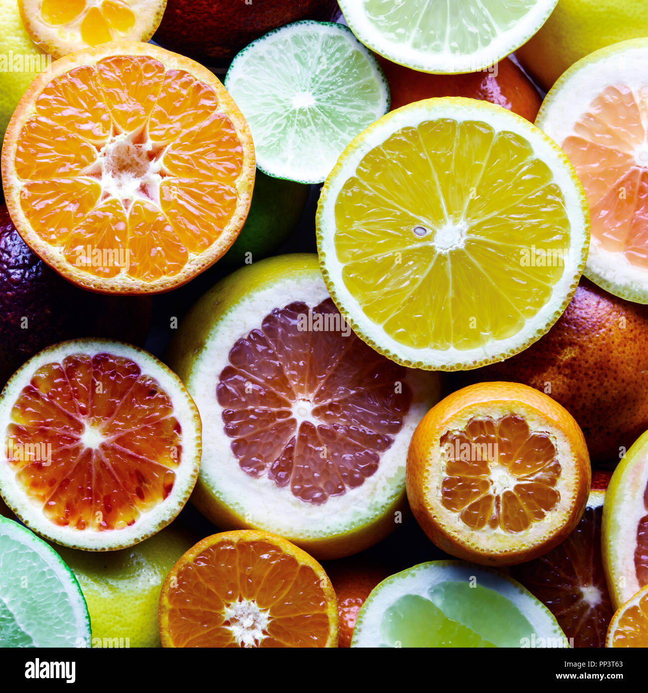 Mix Of Different Citrus Fruits Closeup Healthy Diet Vitamin Concept Food Photography Stock Photo Alamy