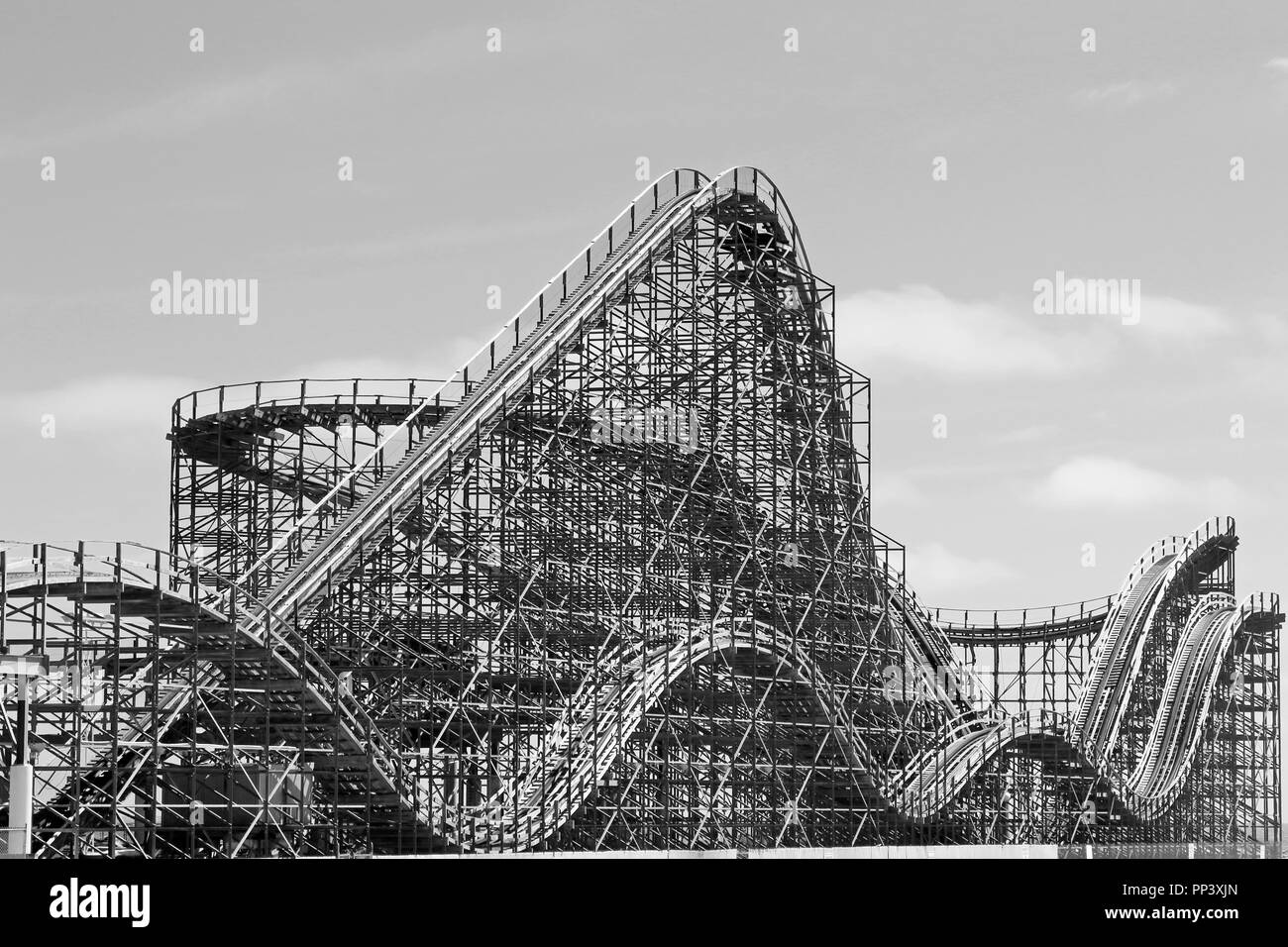The Great White roller coaster on Morey's Piers, Wildwood, New Jersey, USA - Stock Image