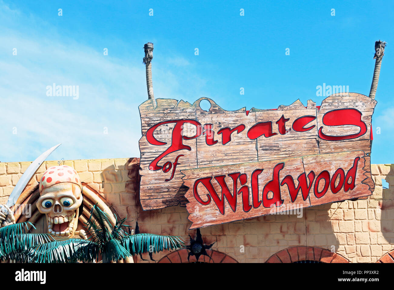 Pirates of WildwoodMorey's Piers, Wildwood, New Jersey, USA - Stock Image