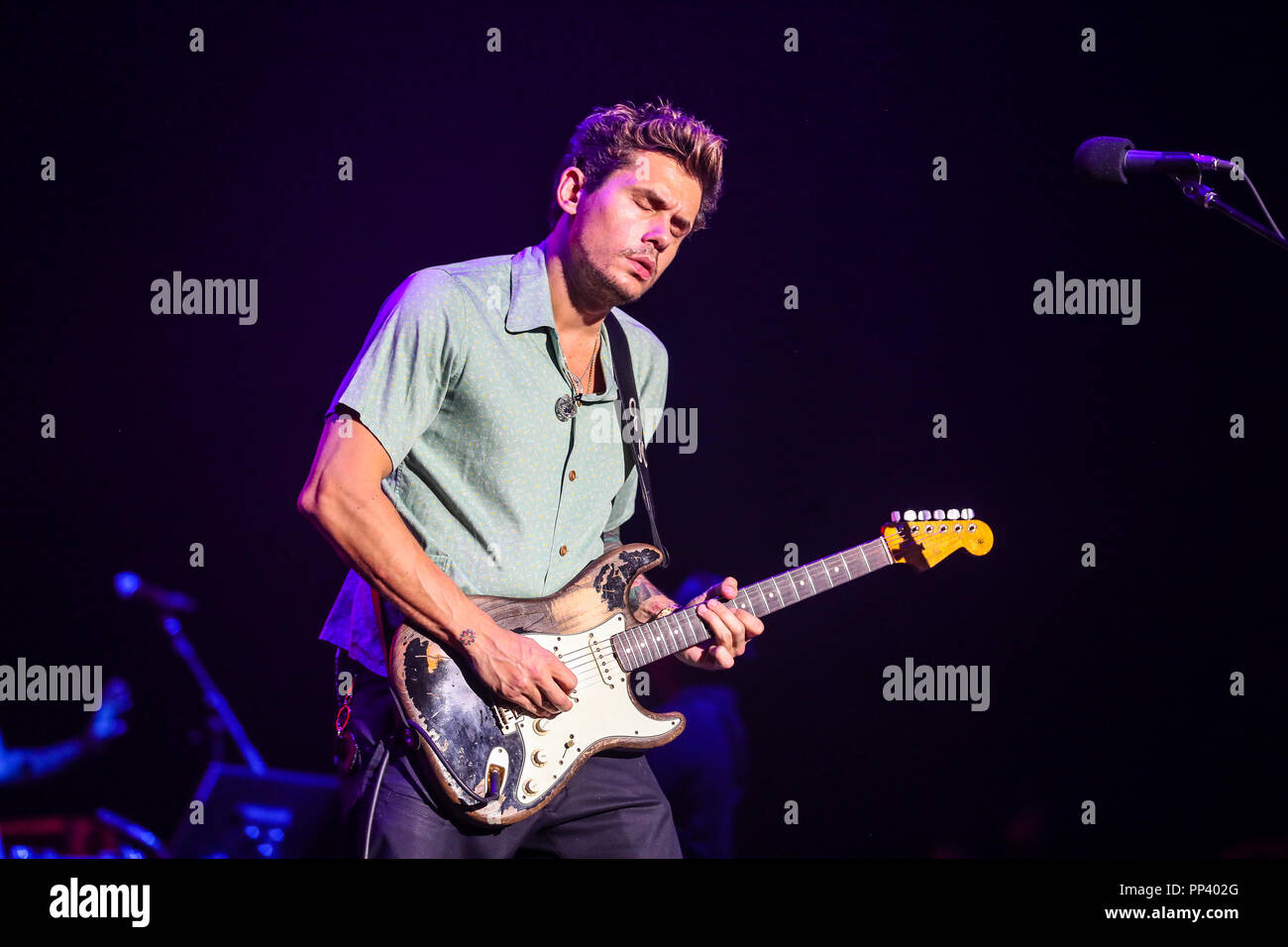 Music Artist JOHN MAYER performs in North Carolina as part