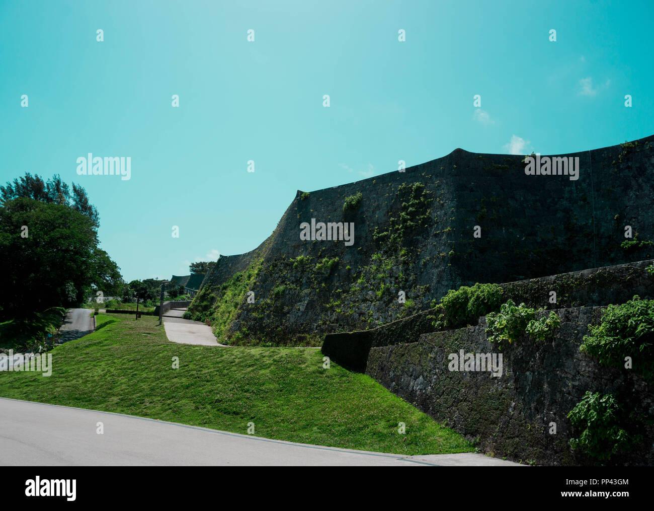 Ausflug zu der Burg Urasoe. in der Hauptstadt von Okinawa. - Stock Image