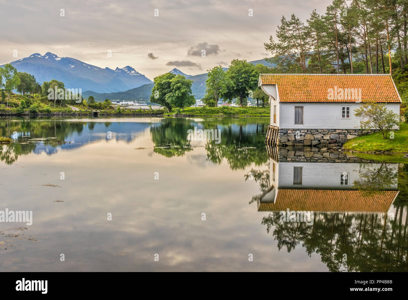 Seahouse From Katavagen, Sunnmore Open Air Museum, Alesund, Norway - Stock Image