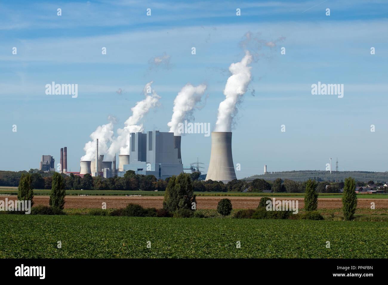 RWE Coal Power Station, RWE Kohlekraftwerk Stock Photo