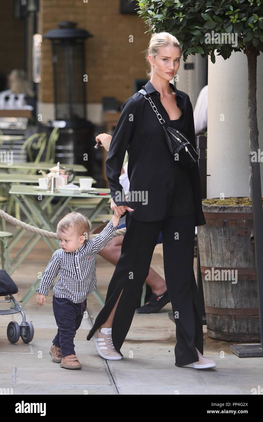 Rosie Huntington-Whiteley seen arriving at a hotel in ...
