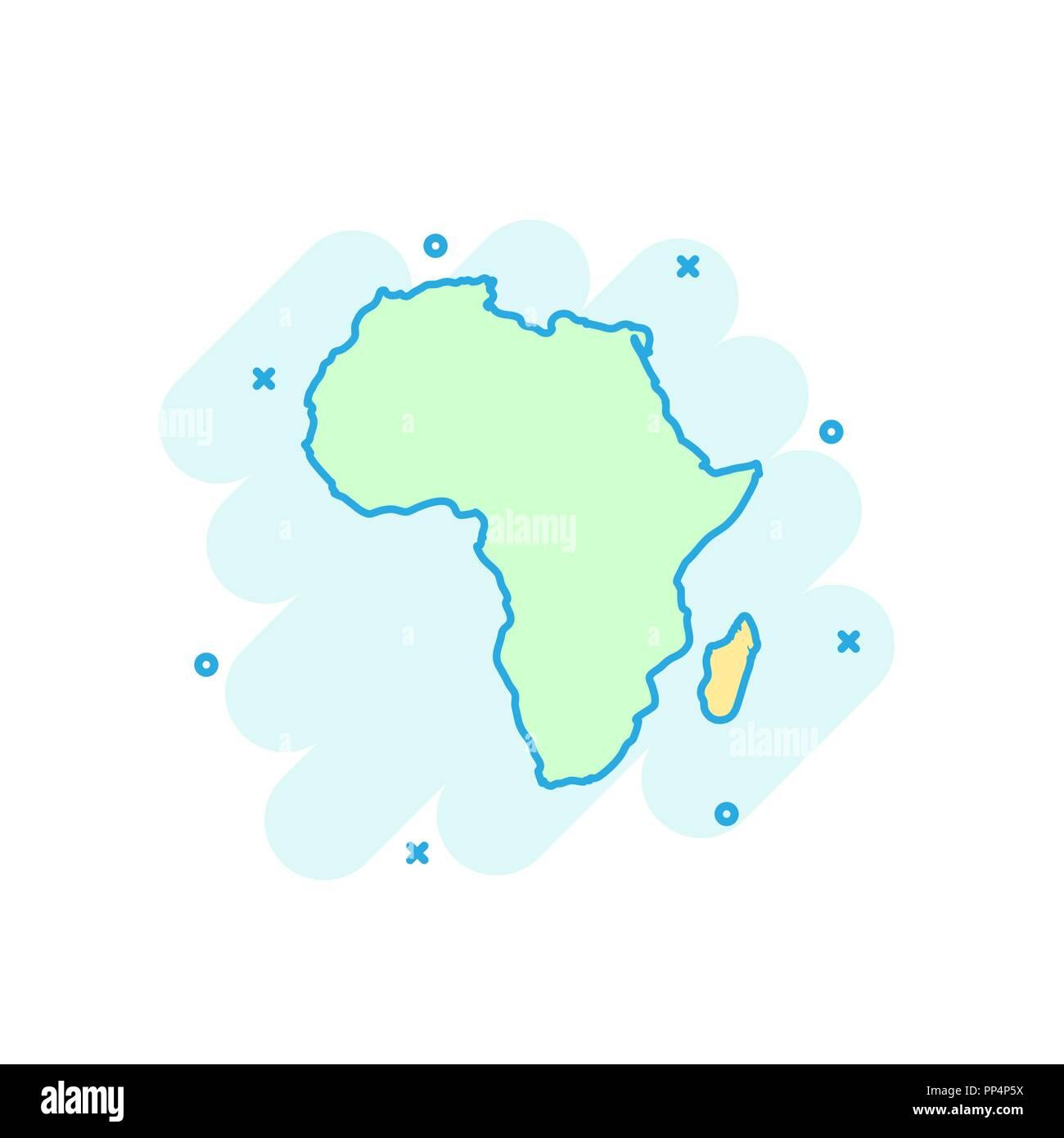 Africa Map Cartoon Stock Photos Africa Map Cartoon Stock Images